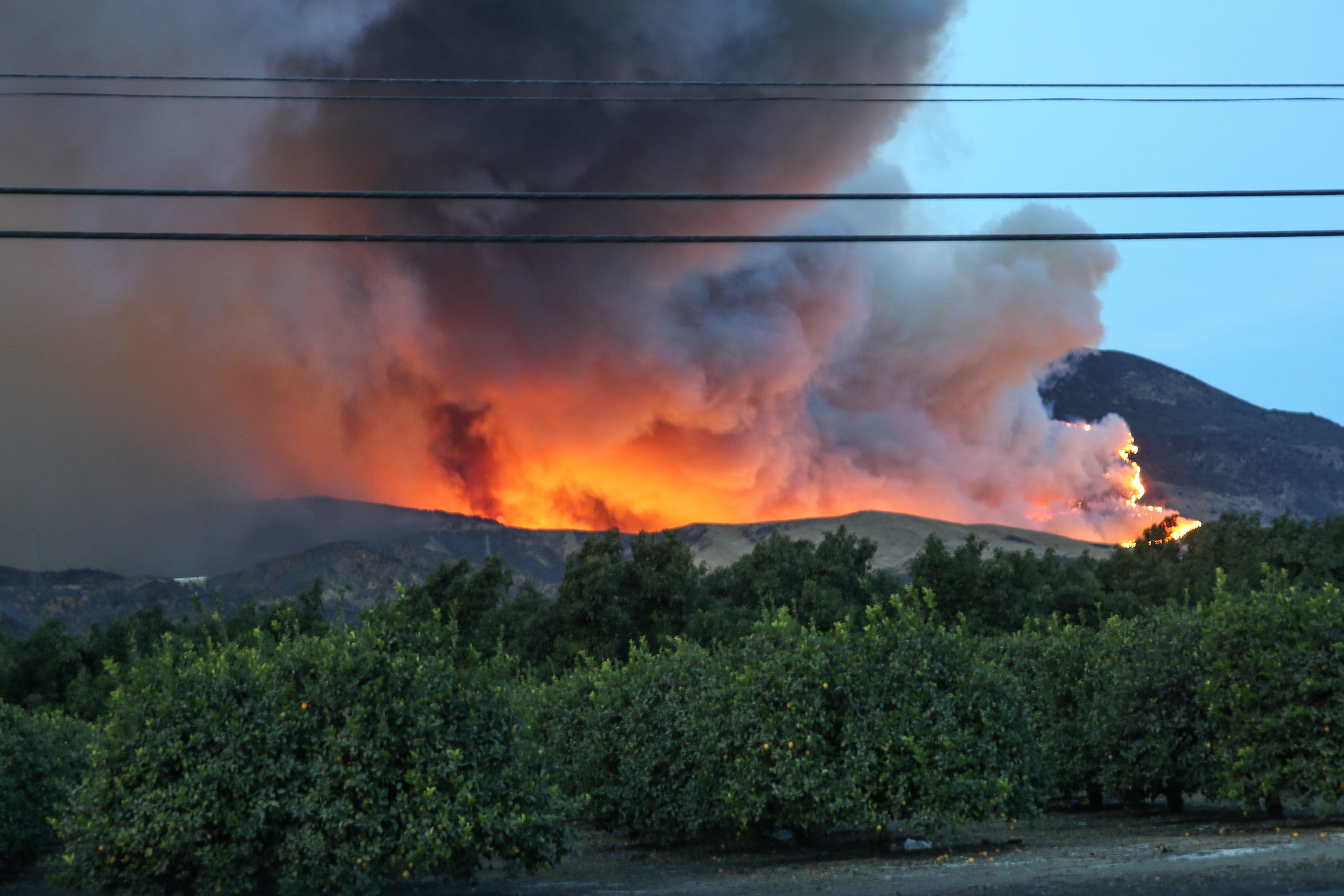 wildfires burning in california